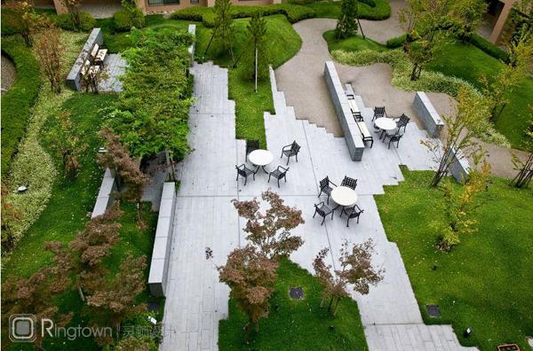 【医院环境景观设计】日本宝冢太阳城疗养院景观