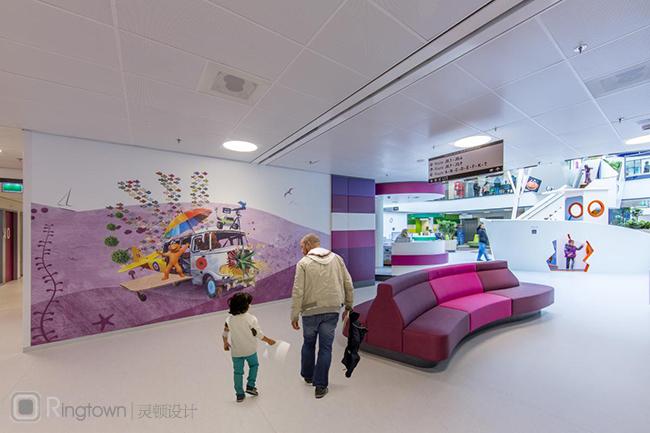 充满欢乐童趣忘却病痛的儿童医院室内环境设计